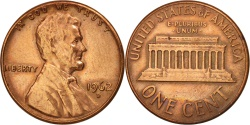 Us Coins - United States, Lincoln Cent, 1962, Denver, , KM:201