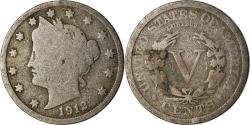 Us Coins - Coin, United States, Liberty Nickel, 5 Cents, 1912, U.S. Mint, Philadelphia