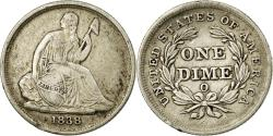 Us Coins - Coin, United States, Seated Liberty Dime, Dime, 1838, U.S. Mint, New Orleans