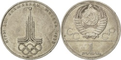World Coins - RUSSIA, Rouble, 1977, KM #144, , Copper-Nickel-Zinc, 31, 12.25