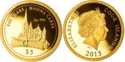 World Coins - Coin, Cook Islands, Elizabeth II, 800 years Magna Carta, 5 Dollars, 2015