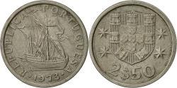 World Coins - Portugal, 2-1/2 Escudos, 1973, , Copper-nickel, KM:590
