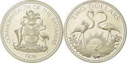 World Coins - Coin, Bahamas, Elizabeth II, 2 Dollars, 1974, Franklin Mint, U.S.A., Proof