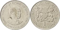 World Coins - KENYA, Shilling, 1980, British Royal Mint, KM #20, , Copper-Nickel,...