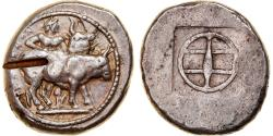 Ancient Coins - Coin, Macedonia, Tyntenoi, Octodrachm, c. 480-470 BC, Extremely rare,