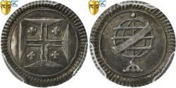 World Coins - Coin, Portugal, Joao V, 20 Reis, Vinten, 1706-77, Lisbon, PCGS, MS63, KM 235