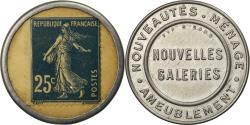 World Coins - Coin, France, Nouvelles Galeries, Ameublement, 25 Centimes, Timbre-Monnaie