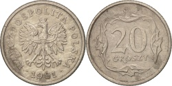 World Coins - Poland, 20 Groszy, 1991, Warsaw, , Copper-nickel, KM:280