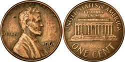 Us Coins - Coin, United States, Lincoln Cent, Cent, 1961, U.S. Mint, Denver,