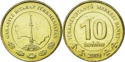 World Coins - Coin, Turkmanistan, 10 Tenge, 2009, , Brass, KM:98