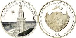 World Coins - Coin, Palau, Le phare d'Alexandrie, 5 Dollars, 2013, Proof, , Silver