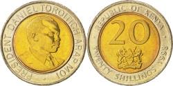 World Coins - KENYA, 20 Shillings, 1998, British Royal Mint, KM #32, , Bi-Metallic, 26,.