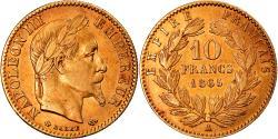 World Coins - Coin, France, Napoleon III, 10 Francs, 1865, Paris, , Gold, KM:800.1