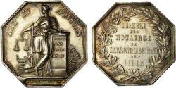World Coins - France, Token, Notaires de l'Arrondissement de Lille, Lecomte, , Silver