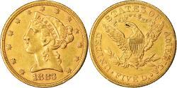 Us Coins - Coin, United States, Coronet Head, $5, Half Eagle, 1883, U.S. Mint