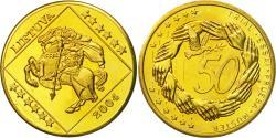 World Coins - Lithuania, Medal, Essai 50 cents, 2004, , Brass