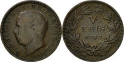 World Coins - Coin, Portugal, Luiz I, 5 Reis, 1882, , Bronze, KM:525