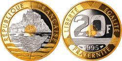 World Coins - Coin, France, Mont Saint Michel, 20 Francs, 1995, Paris, Proof,