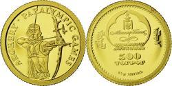 World Coins - MONGOLIA, 500 Tugrik, 2008, CIT, KM #279, , Gold, 11, 0.50
