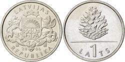 World Coins - LATVIA, Lats, 2006, Vantaa, KM #74, , Copper-Nickel, 21.75, 4.80