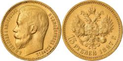 Ancient Coins - Coin, Russia, Nicholas II, 15 Roubles, 1897, St. Petersburg, , Gold