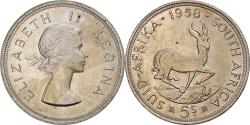 World Coins - Coin, South Africa, Elizabeth II, 5 Shillings, 1958, , Silver, KM:52