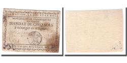 World Coins - France, 5 Sols, Undated (1791-92), VILLEFRANCHE, VF(30-35)