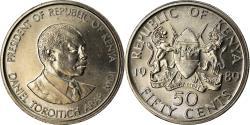 World Coins - Coin, Kenya, 50 Cents, 1989, British Royal Mint, , Copper-nickel, KM:19