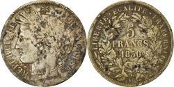 World Coins - Coin, France, Cérès, 5 Francs, 1850, Bordeaux, , Silver, KM:761.3