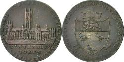 World Coins - Coin, Great Britain, Kent, Halfpenny Token, 1794, Canterbury, EF(40-45), Copper