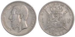 World Coins - BELGIUM, Franc, 1886, KM #28.2, , Silver, 4.92