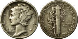 Us Coins - Coin, United States, Mercury Dime, Dime, 1945, U.S. Mint, Philadelphia