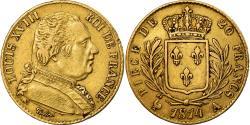 Ancient Coins - Coin, France, Louis XVIII, Louis XVIII, 20 Francs, 1814, Paris, , Gold