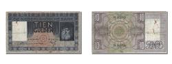 World Coins - Netherlands, 10 Gulden, 1935, KM #49, 1935-04-27, EF(40-45), FL 003855