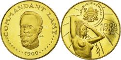 World Coins - Coin, Chad, Lamy, 1000 Francs, Undated (1970), Paris, , Gold, KM:8
