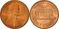 Us Coins - United States, Lincoln Cent, Cent, 1992, U.S. Mint, Philadelphia,
