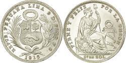 World Coins - Coin, Peru, 1/5 Sol, 1916, Lima, , Silver, KM:205.2