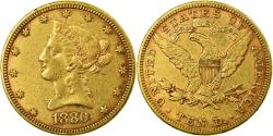 Us Coins - Coin, United States, Coronet Head, $10, Eagle,1880,Philadelphia,,KM 102