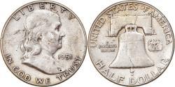 Us Coins - Coin, United States, Franklin Half Dollar, Half Dollar, 1951, U.S. Mint