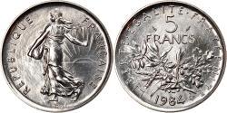 World Coins - Coin, France, Semeuse, 5 Francs, 1984, Paris, , Nickel Clad