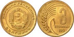 World Coins - Coin, Bulgaria, 3 Stotinki, 1951, , Brass, KM:51