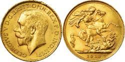 World Coins - Coin, Australia, George V, Sovereign, 1913, Sydney, , Gold, KM:29