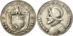 World Coins - Coin, Panama, 1/2 Balboa, 1930, , Silver, KM:12.1