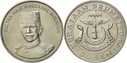 World Coins - BRUNEI, Sultan Hassanal Bolkiah, 50 Sen, 1994, ,  Copper-nickel, KM:38