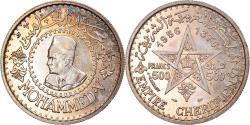 World Coins - Coin, Morocco, Mohammed V, 500 Francs, 1956/AH1376, Paris, , Silver