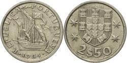 World Coins - Coin, Portugal, 2-1/2 Escudos, 1984, , Copper-nickel, KM:590