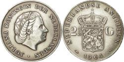 World Coins - Coin, Netherlands Antilles, Juliana, 2-1/2 Gulden, 1964, , Silver, KM:7