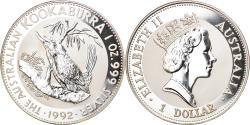 World Coins - Coin, Australia, Australian Kookaburra, 1 Dollar, 1992, 1 OZ,BU,