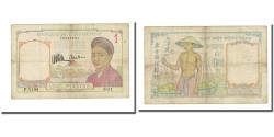 World Coins - Banknote, FRENCH INDO-CHINA, 1 Piastre, undated 1933, KM:54a, VF(20-25)