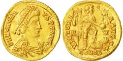 Coin, Honorius, Solidus, Ravenna, MS(60-62), Gold, RIC:1287